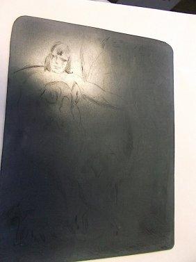 Walt Kuhn (1877-1949) Original Metal Etching Plate