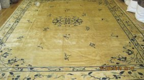 Antique Chinese Peking Carpet With A Very Soft Wool