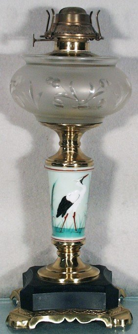 SANDWICH HERON OIL LAMP