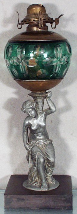 IDEN CLASSICAL DRAPED NUDE OIL LAMP