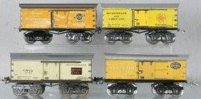4 IVES BOX CARS
