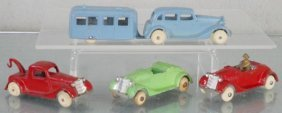 4 Tootsietoy Fords