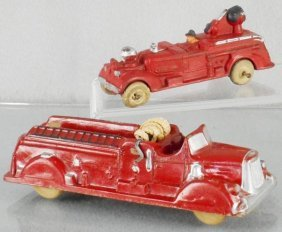 2 Auburn Rubber Fire Engines