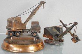 2 Lorain Construction Equipment Desk Pieces
