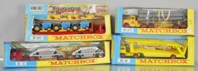 4 Matchbox King Size Trucks