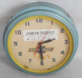 1954 Chevrolet Neon Clock