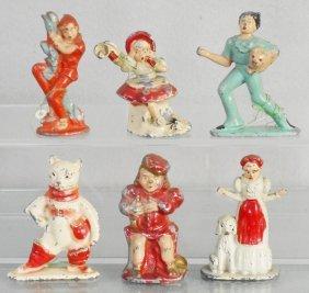 6 Tommy Toys Nursery Rhyme Figures