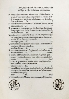 Piccolomini Aeneas Sylvius (papa Pius Ii), 1473