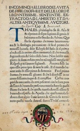 Diogenes Laertius, 1480