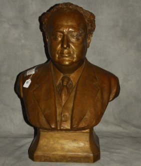 Bronze Portrait Bust, Foundry Mark: Deal Casting Co.