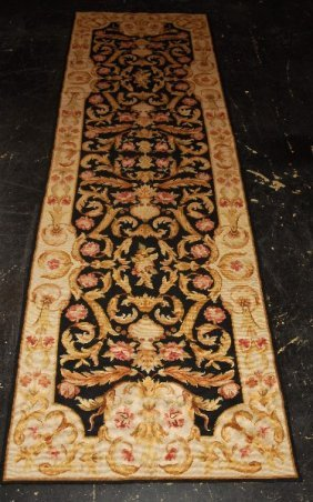"""Aubusson Tapestry Rug. 8' 2"""" X 2' 7"""" (98"""" X 31"""")"""