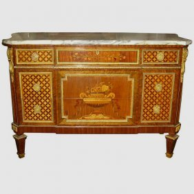 Louis Xvi Style Marquetry And Parquetry Inlaid
