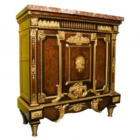 19th C. Grande Louis Xvi Gilt Bronze Mounted Marble Top