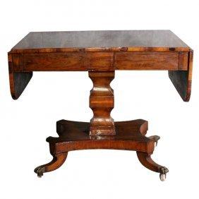 19th C. English Regency Rosewood Sofa Table On
