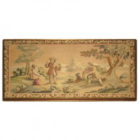"""Aubusson Style Tapestry Panel. H: 32"""" W: 58"""""""
