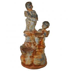 Iron Figural Garden Sculpture