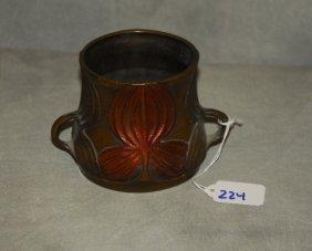 Art Nouveau Bronze Two Handle Cup
