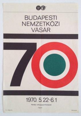 Budapest International Fair 1970 Vintage Poster