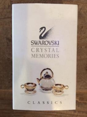 Swarovski Crystal Memories Teapot W Cups