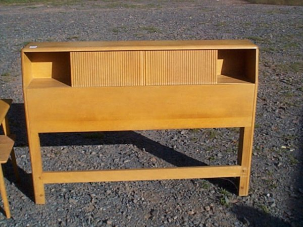 125 Heywood Wakefield Blonde Headboard With Bookcase A Lot 1125