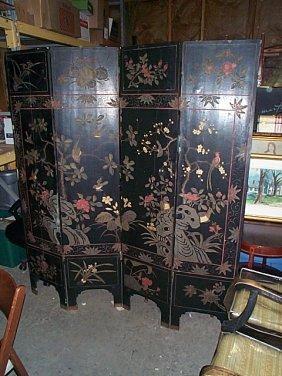 19th Century 4-part Oriental Screen. Local Deliver