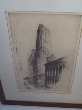 "John A. Dix (1881-1945) Pencil Signed Etching,  ""N"