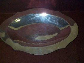 900 Colombian Silver Oval Serving Dish  Measures