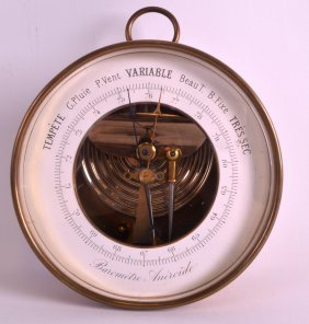 A Small Early 20th Century French Android Barometer