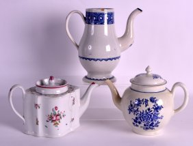 An 18th Century Liverpool Teapot And Cover Together