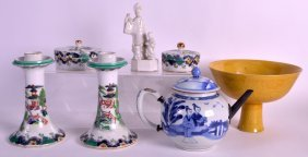 An 18th Century Chinese Blue And White Teapot And Cover