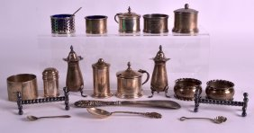 A Collection Of Victorian And Edwardian Silver