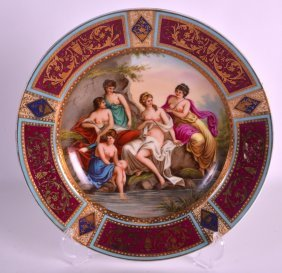 A Late 19th Century Vienna Porcelain Plate Painted With