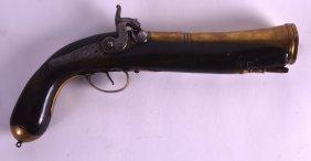An Early 19th Century Naval Brass Barrel Bluderbuss