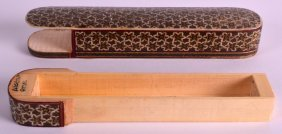 An Early 20th Century Indian Ivory Inlaid Pen Box And