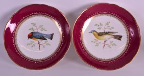 A Pair Of Mid 19th Century European Porcelain Comports
