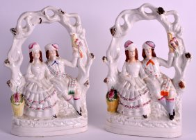 A Pair Of 19th Century Staffordshire Figural Groups