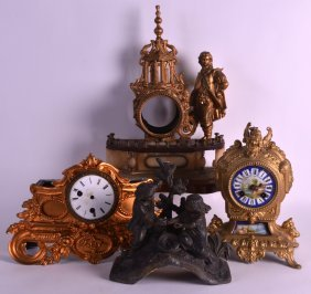 A 19th Century French Gilt Metal And Porcelain Mantel