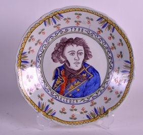 A 19th Century French Faience Glazed Circular Plate