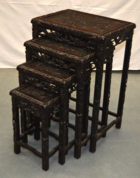 A Nest Of Four Early 20th Century Chinese Nest Of