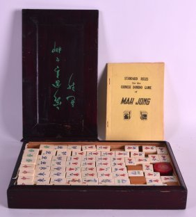 An Early 20th Century Chinese Cased Mahjong Set With