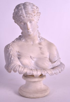 A 19th Century Parian Ware Bust Of A Female Modelled