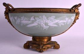 A Good 19th Century French Pate Sur Pate Porcelain Bowl