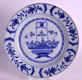 An Early 18th Century Chinese Blue And White Plate