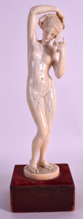 A Good 19th Century European Carved Ivory Figure Of A