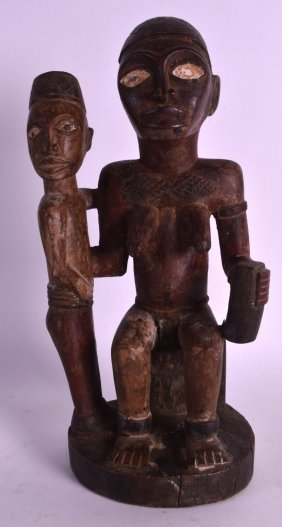 An Unusual Early 20th Century African Carved Wood