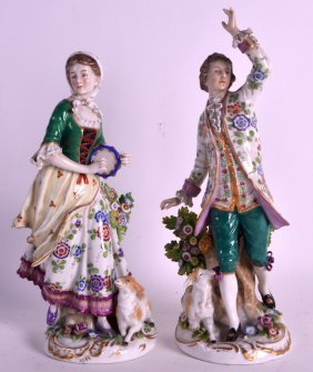 A Pair Of Late 19th Century Continental Figures Of A