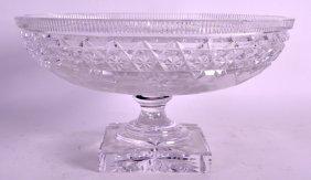 An Early 20th Century European Cut Crystal Fruit Bowl