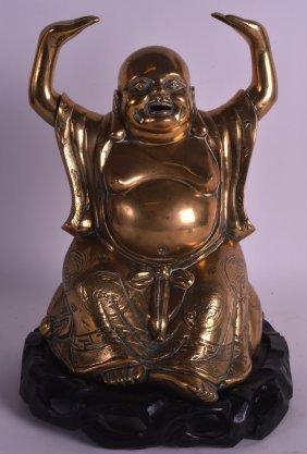A Late 19th Century Chinese Bronze Figure Of A Buddha