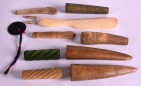 A Collection Of Mainly 19th Century Ivory Handles And