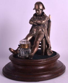 An Unusual 19th Century Napoleonic Inkwell Modelled As
